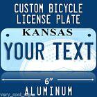 BIKE PLATE CUSTOM BICYCLE MINI STATE LICENSE PLATE Kansas personalized NEW!