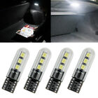 4x T10 W5W 168 194 Car LED Interior Side Wedge Light 6SMD 2835 Bulb White Lamp
