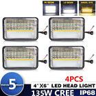 """4pcs 4x6"""" LED Headlights for Kenworth T400 T600 T800 W900L W900B Classic 120/132"""