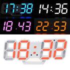 3D LED Modern Digital Table Desk Night Wall Clock Alarm Clock 24/12 Hour Display