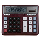 SHARP EL-2135 Calculator Computer Desktop In Case Working Keys 12 Digits Red