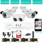 4CH DVR 8CH NVR Outdoor Dome Indoor Night Vision CCTV Security Camera System 1TB
