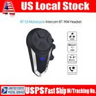 1KM BT-S3 Motorcycle Intercom Bluetooth BT Interphone Helmet Headset FM Radio US