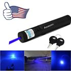 USA 405nm Single Point Visible Light Blue Purple Laser Pointer Cat Toy Lazer Pen
