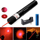 20Miles Red Laser Pointer Pen 650nm 2in1 Star Pattern Singe Beam+Battery+Charger