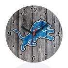 Detroit Lions Football Sport Wall Clock Home Office Room Decor Gift