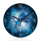 Detroit Lions Football Wall Clock Home Office Room Decor Gift