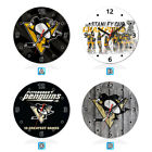 Pittsburgh Penguins Ice Hockey Wall Clock Home Office Room Decor Gift