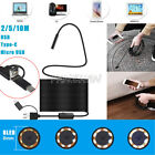 2/5/10M Waterproof HD 3 in1 USB Type-C USB C Endoscope Inspection For Cell Phone