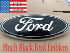 2004-2014 FOR FORD LOGO BLACK OVAL FRONT GRILLE & REAR TAIL GATE 9 INCH EMBLEM