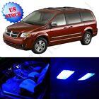 10x Blue Interior Package 12V for Dodge Grand Caravan 2008-2015 LED Bulb Lights