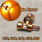 Canbus T10 27 LED Amber Bulb 3rd Brake Light W5W 168 194 2825 W1 For Chevrolet