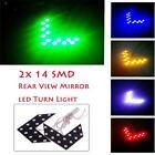 Nice 2Pcs 14 SMD LED Arrow Panel For Car Rear Mirror Indicator Turn Signal Light