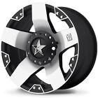 17x8 Black Rockstar XD775M 8x6.5 10 Bridgestone Dueler A/T RH-S 265/70R17 Rims
