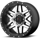 17x9 Black XD128 5x5.5 18 Bridgestone Dueler A/T RH-S 265/70R17 Rims Tires