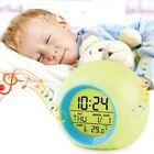 US 7 LED Color Change White Digital Alarm Clock Child Bedroom Home Gift For Kids