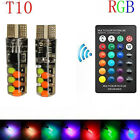 9BE7 Car Dashboard Light T10 W5w COB with Remote Control Stop Light Bright