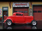 Model A 3 Window Deuce High Boy Coupe w/ Cold AC! 1932 Ford Model A 3 Window Deuce High Boy Coupe w/ Cold AC! 17689 Miles Red  350