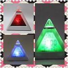 PVC Horloge électronique 7 Couleur Changement LED Pyramide Réveil numérique Offi