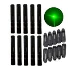 10PC 50Mile Green Laser Pointer Pen 532nm Adjustable Focus Lazer+Battery+Charger