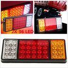 2p 12V 36 LED Tail Lights Rear Ute Trailer Caravan Truck Boat Car Indicator Lamp
