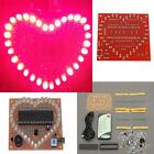 Heart Shape Pink LED Module Love Light DIY Electronic Kit V Valentine Gift