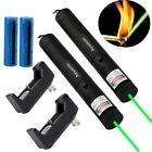 2PC 20 Mile Green Laser Pointer Pen 1mw 532nm Visible Beam+2X Battery+2X Charger