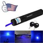 USA 405nm Single Point Visible Light Blue Purple Laser Pointer Cat Toy Lazer Pen