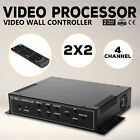 2x2 TV22 4 Channel Video Wall Controller HDMI Outputs VGA MPG multi-view  Local