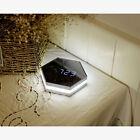 Electronic Multifunction LED Night Light Wall Clock Mirror Digital Display Alarm