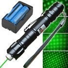 Portable Bright Star Green Laser Pointer Pen 18650 Rechargeable Battery +Charger