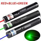 3PCS 50Miles Green+Blue+Red Laser Pointer Beam Light Single Point Lazer Pen US