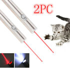 US 2PC Mini Portable Flashlight10Miles 650nm Red Laser Pointer Pet Toy Laser