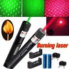 2x 650/532nm Red&Green Laser Pointer Pen Single Beam Star Pattern+Batt+Charger