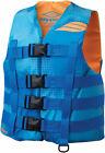 Slippery Wetsuits HYDRO Nylon Watercraft Vest/Life Jacket (Blue/Orange) XS