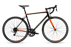 POLYGON Strattos S2 - Road Bike Shimano Claris Bicycles BLACK-ORANGE-SKY BLUE