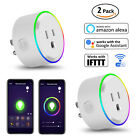 2 x Smart Mini WiFi Plug Outlet Switch Work With Echo Alexa Google Home Remote