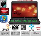 #55 Compaq 515 AMD 14.1 2.1Ghz 320GB HD Radeon HD 4GB RAM KODI OFFICE WIN7 x64