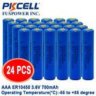24pc AAA Li-SOCl2 Batteries ER10450 3.6V 700mAh 3A Lithium PKCELL FREE SHIPPING