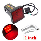 """Red 12LED 2"""" Trailer Hitch Cover Mount Tail Brake Light Tow Bar Lamp For Turck"""