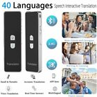 Pocket Bluetooth Smart Real Time T8 40 Language Voice Translator Travel Meeting