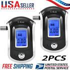 (2PCS) Advance Digital Breath Alcohol Tester LCD Breathalyzer Analyzer Detector