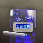 Alarm Clock Fluorescent Message Board Digital Led Light 4 Usb Port Creative Gift