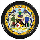 Seal of Maryland United States #E01 Wall Clock