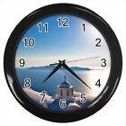 Santorini Blue Sea Greece #E01 Wall Clock