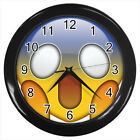 Shocking Emoji Emoticon #E01 Wall Clock