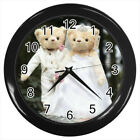 Teddy Bear Wedding #E01 Wall Clock