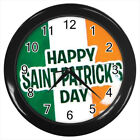 St. Patrick's Day Irish Flag #E01 Wall Clock