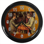 The Card Players Paul Cezanne #E01 Wall Clock