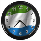Sierra Leone Flag #E01 Wall Clock